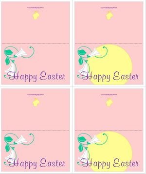 Easter cards and gift tags easter lily craft sheet graphic negle Gallery