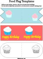 birthday cupcake flags