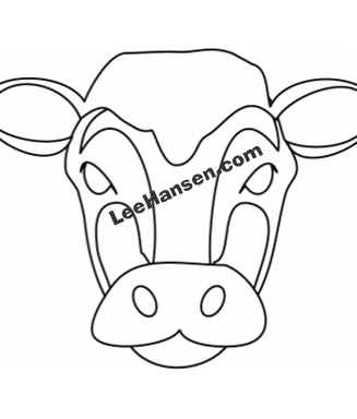 photo about Cow Mask Printable named Printable Cow Experience Mask toward Shade and Lower Out