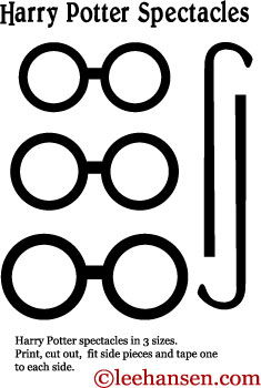image relating to Harry Potter Stencils Printable named Printable Harry Potter Eyegles Mask Template