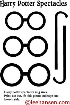 image regarding Harry Potter Stencils Printable referred to as Printable Harry Potter Eyegles Mask Template