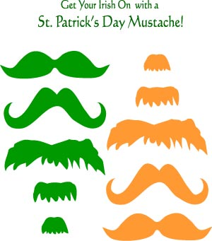 Printable paper crafts patterns and activity sheets for Leprechaun mask template