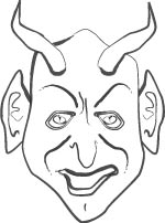 Scary Devil Mask Cut Out Craft Sheet