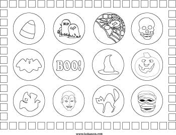 Printable Halloween Coloring Craft Place Mat