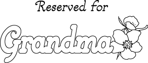 Grandma Place Mat Printable Coloring Craft Sheet
