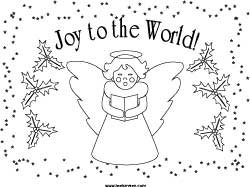 christmas angel placemat coloring page