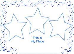 birthday star place mat coloring sheet