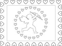 Valentine poster coloring sheet