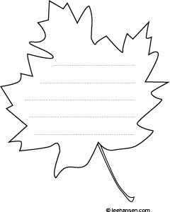 leaf writing paper