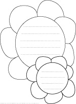 Flowers shape paper with lines for writing flower shapes writing paper coloring flower shapes writing paper coloring sheet mightylinksfo