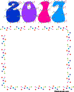 New Year confetti border paper
