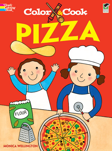 Pizza cook and coloring book for children