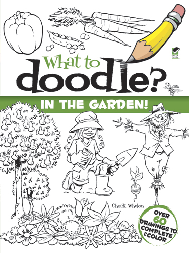 Doodle and draw garden pictures coloring book